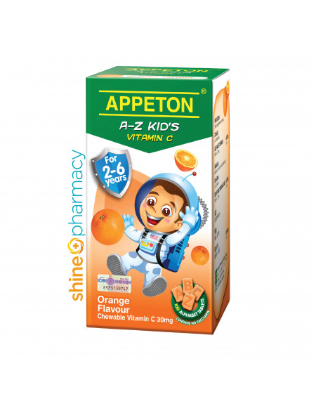 Appeton Child Vit C A-Z 30mg Tab (Orange) 100s